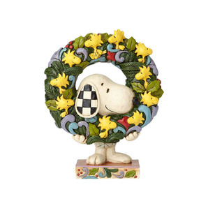【先行予約】【JIM SHORE】-Snoopy With Woodstock Wreath- <クリスマス>