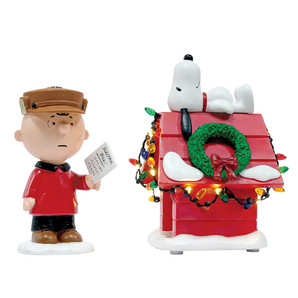 【先行予約】【Department56】Peanuts -Light It Up set of 2- <クリスマス>