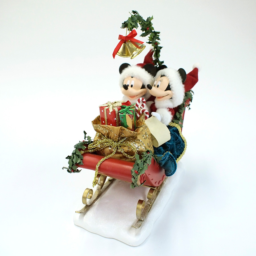 【Department 56】ミッキー&ミニー スレイベル <クリスマス>