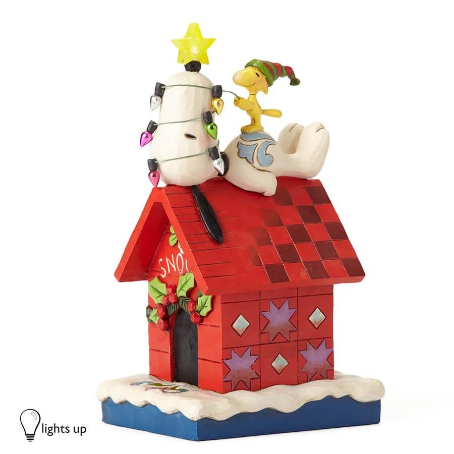 【JIM SHORE】スヌーピー&ウッドストック メリーアンドブライト <クリスマス>