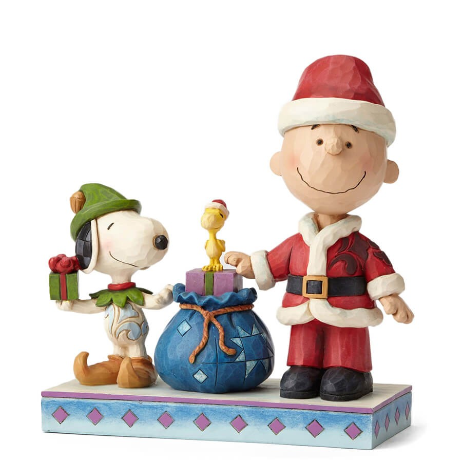 【JIM SHORE】スヌーピー&チャーリーブラウン ホリデーヘルパー <クリスマス>