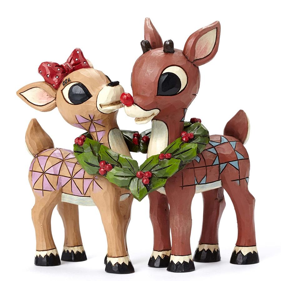 【JIM SHORE】ルドルフ -With Clarice Wreath- <クリスマス>
