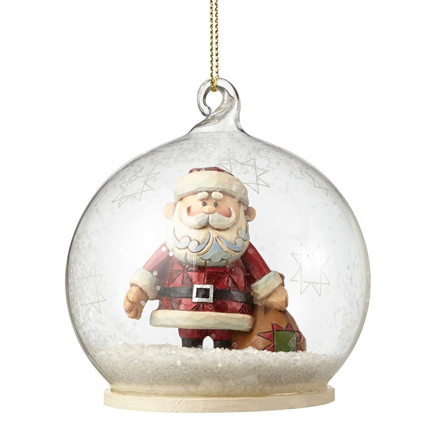 【JIM SHORE】ルドルフ -Santa Dome Ornament- <クリスマス>