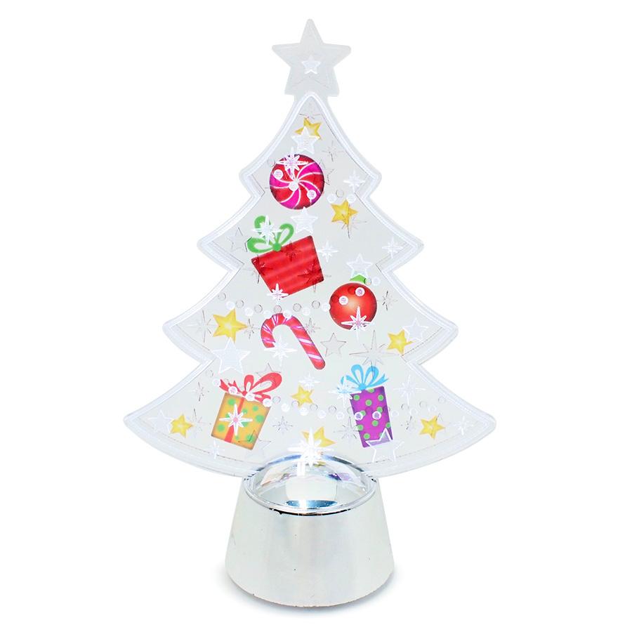 ◇先行予約◇フラッシングライト クリアーツリー シルバー <クリスマス>