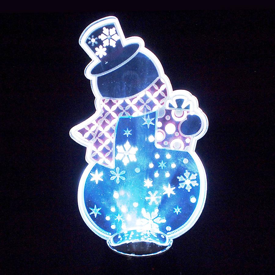 ◇先行予約◇フラッシングライト シルエットスノーマン <クリスマス>