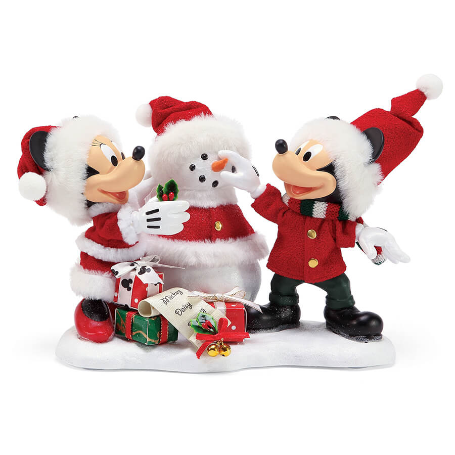 【Department56】 −Mickey&Minnie Snow−  <クリスマス>