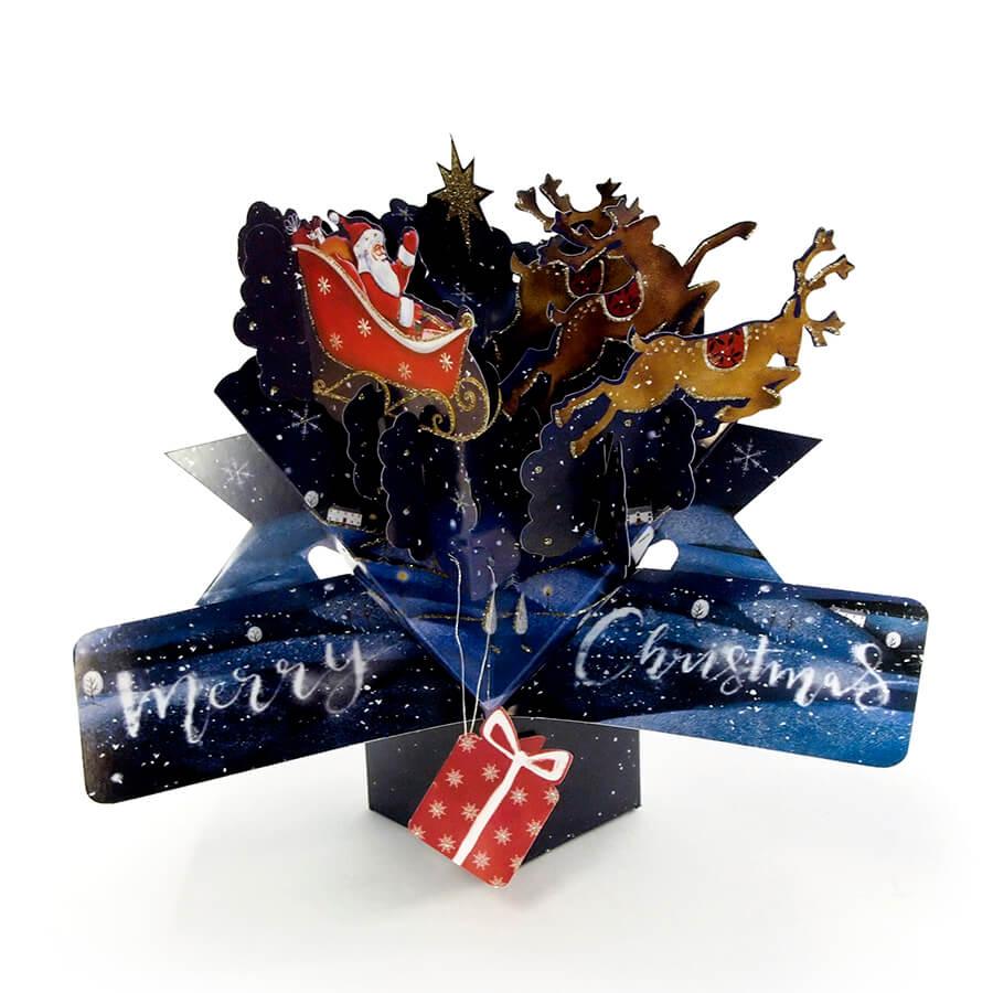 ◇先行予約◇【Second Nature】ポップアップカード サンタ&スレイ <クリスマス>