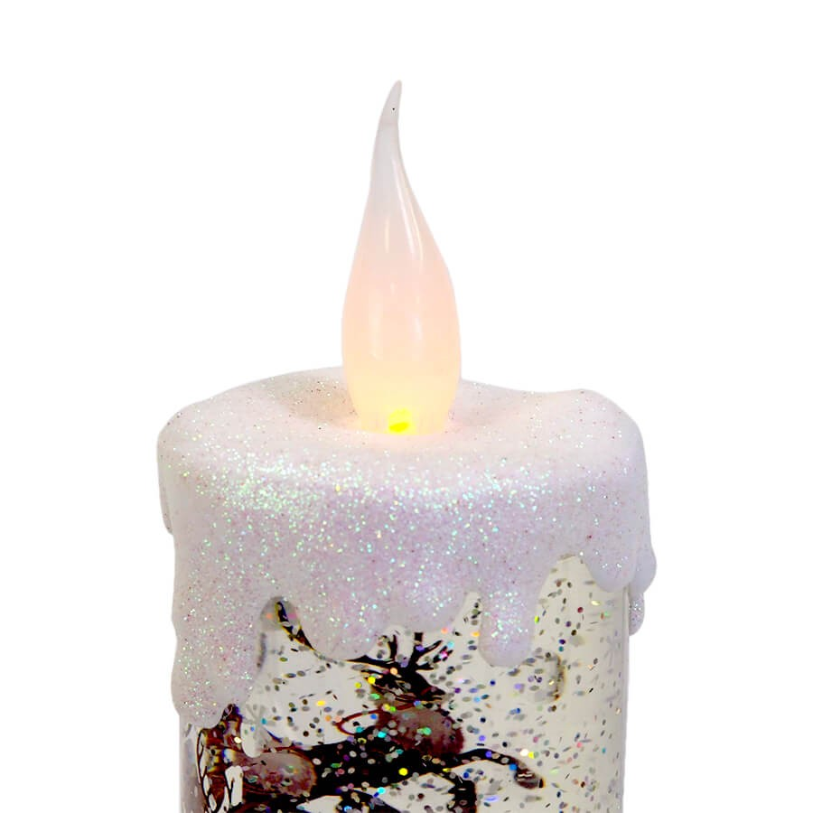 LEDキャンドル サンタオンスレイ グリッタースタンド <クリスマス>