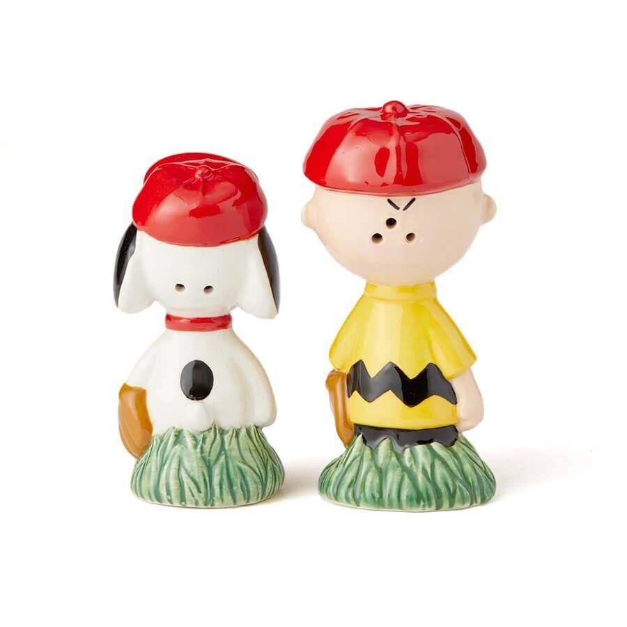 【enesco】ソルト&ペッパー スヌーピー&チャーリーブラウン ベースボール