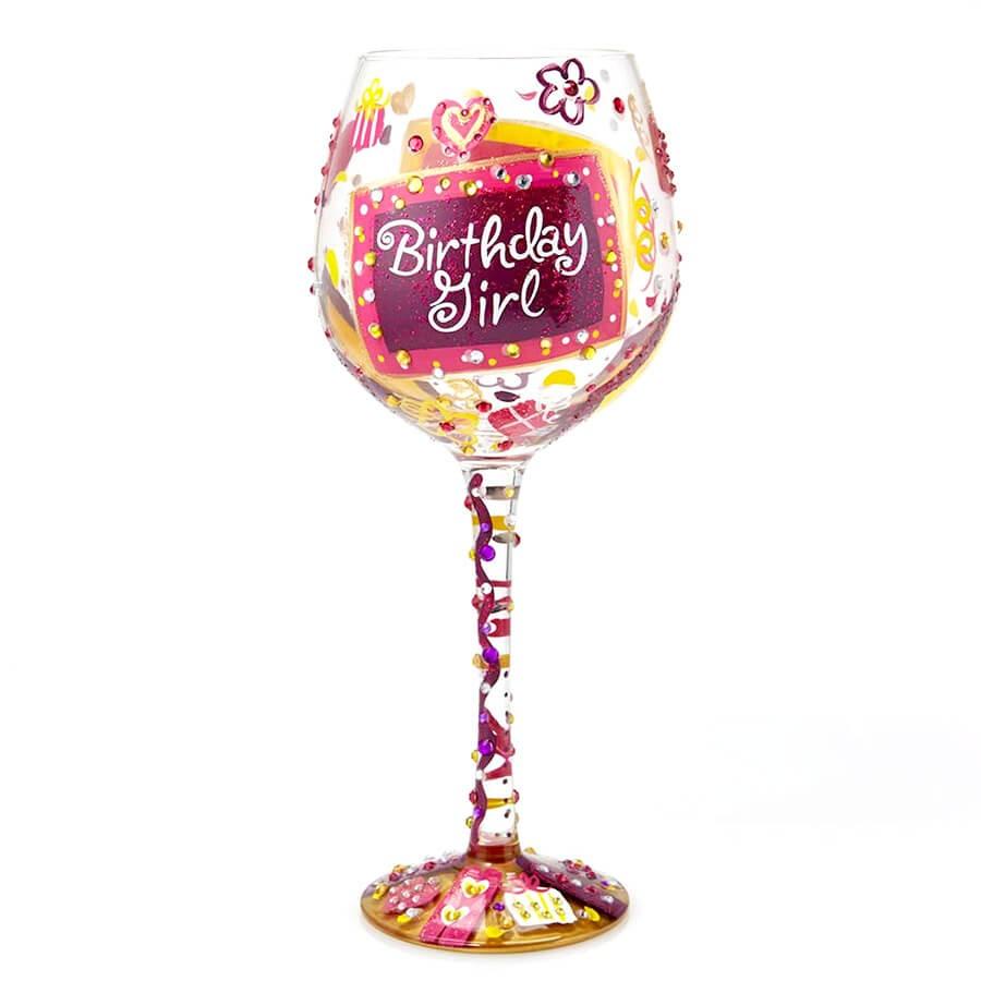 ロリータのワイングラス BLING BIRTHDAY GIRL