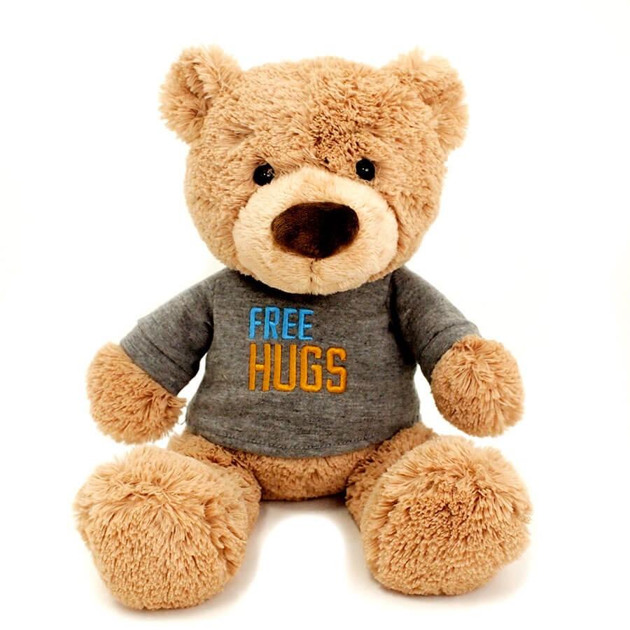 【GUND】Tシャツべア- FREE HUGS-
