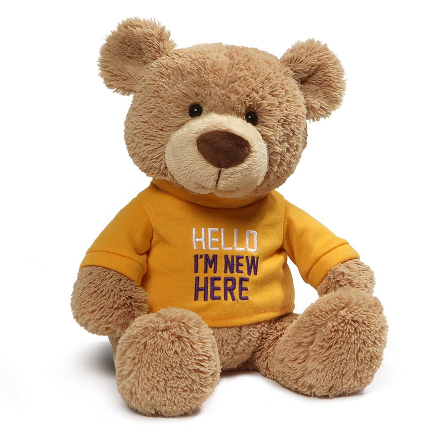 【GUND】Tシャツベア -HELLO I'M NEW HERE-