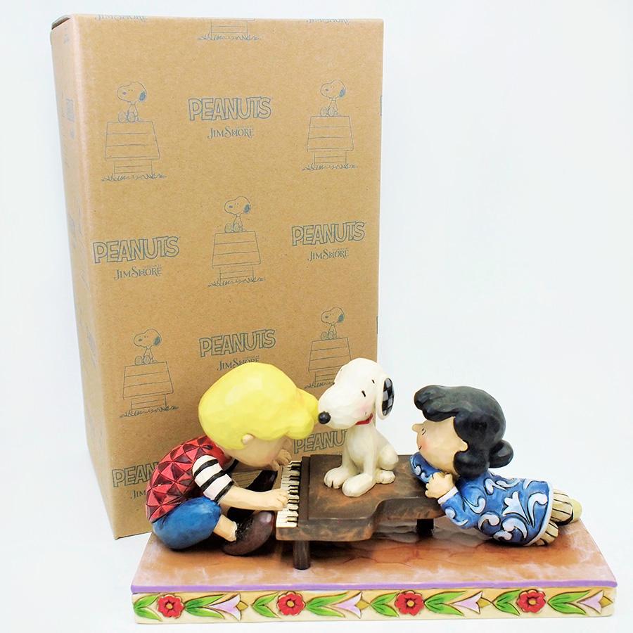 【JIM SHORE】フィギュア シュローダー with ルーシー&スヌーピー