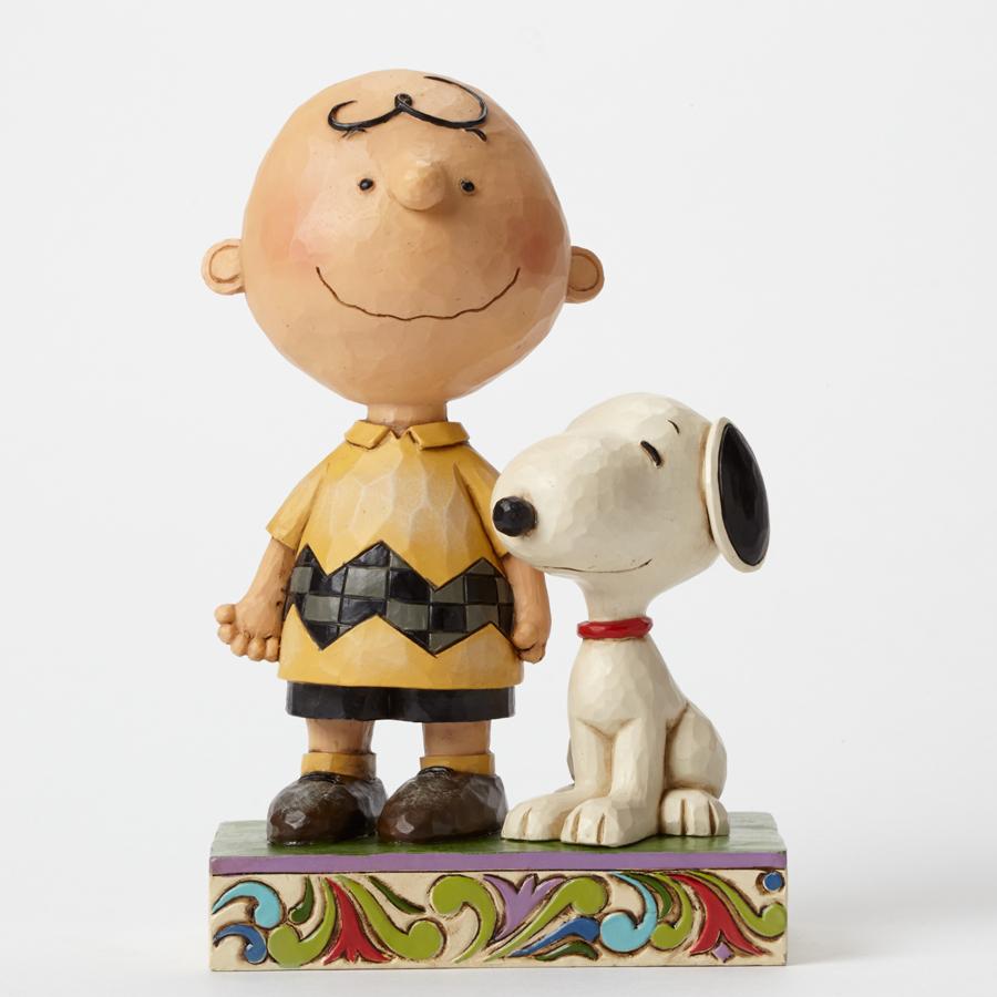 【JIM SHORE】スヌーピー&チャーリーブラウン フレンドシップ