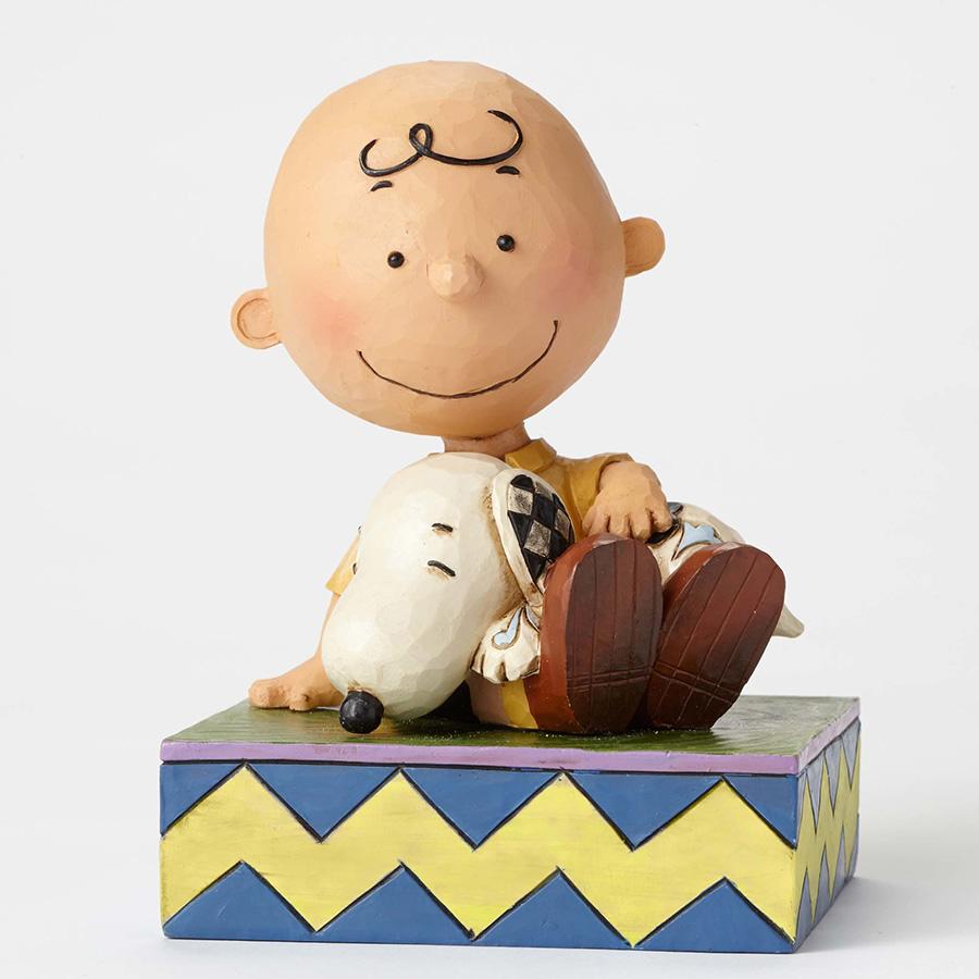 【JIM SHORE】フィギュア チャーリーブラウン -Holding Snoopy-