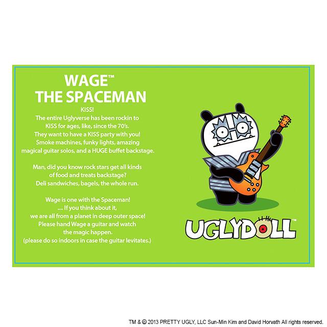 【GUND】UGLYDOLL×KISS スペースマン+ウェッジ