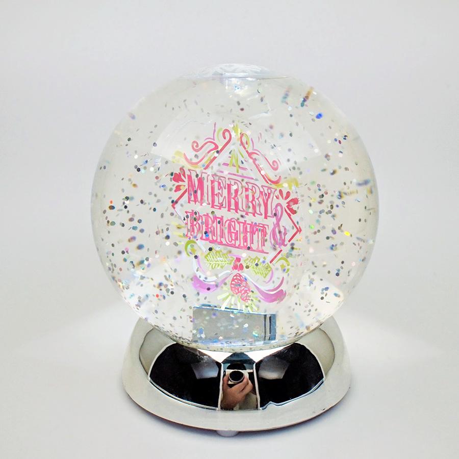 ◇先行予約◇フラッシングライトスノードーム Merry & Bright <クリスマス> SALE!
