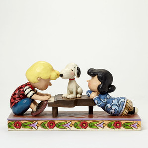 【JIM SHORE】スヌーピー&シュローダー&ルーシー ピアノ