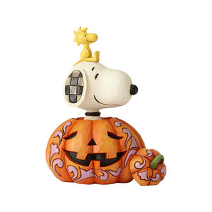 【JIM SHORE】 −Pumpkin Snoopy Woodstock− <ハロウィン>