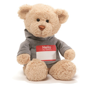 【GUND】Hello My Name is Tシャツベア グレー