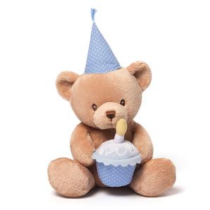 【GUND】Happy Birthday トーキング べア ブルー
