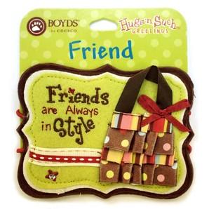 【BOYDS】フェルトメッセージタグ FRIEND