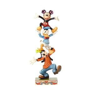◇先行予約◇【Disney Traditions】ミッキー&ドナルド&グーフィー バランスタワー
