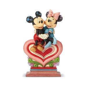 【Disney Traditions】ミッキー&ミニー シッティング オン ハート