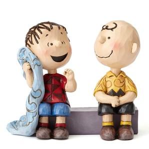 【JIM SHORE】チャーリーブラウン&ライナス アドバイス